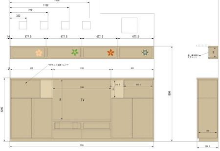 ナラ突き板のTV収納棚.jpg