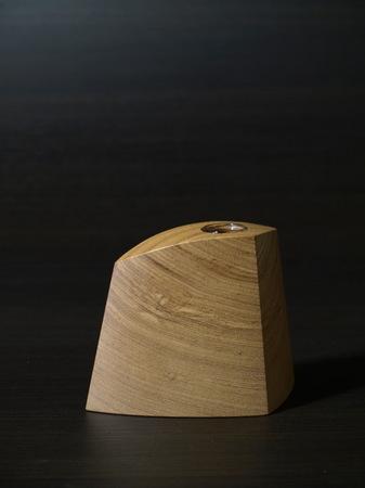 014、木の一輪挿しTriad、タモ材.jpg
