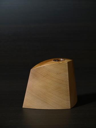 016、木の一輪挿しTriad、ウエスタンレッドシダー.jpg