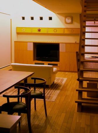 ナラ突き板のTV収納、DVD棚とアートマグネットー4.jpg